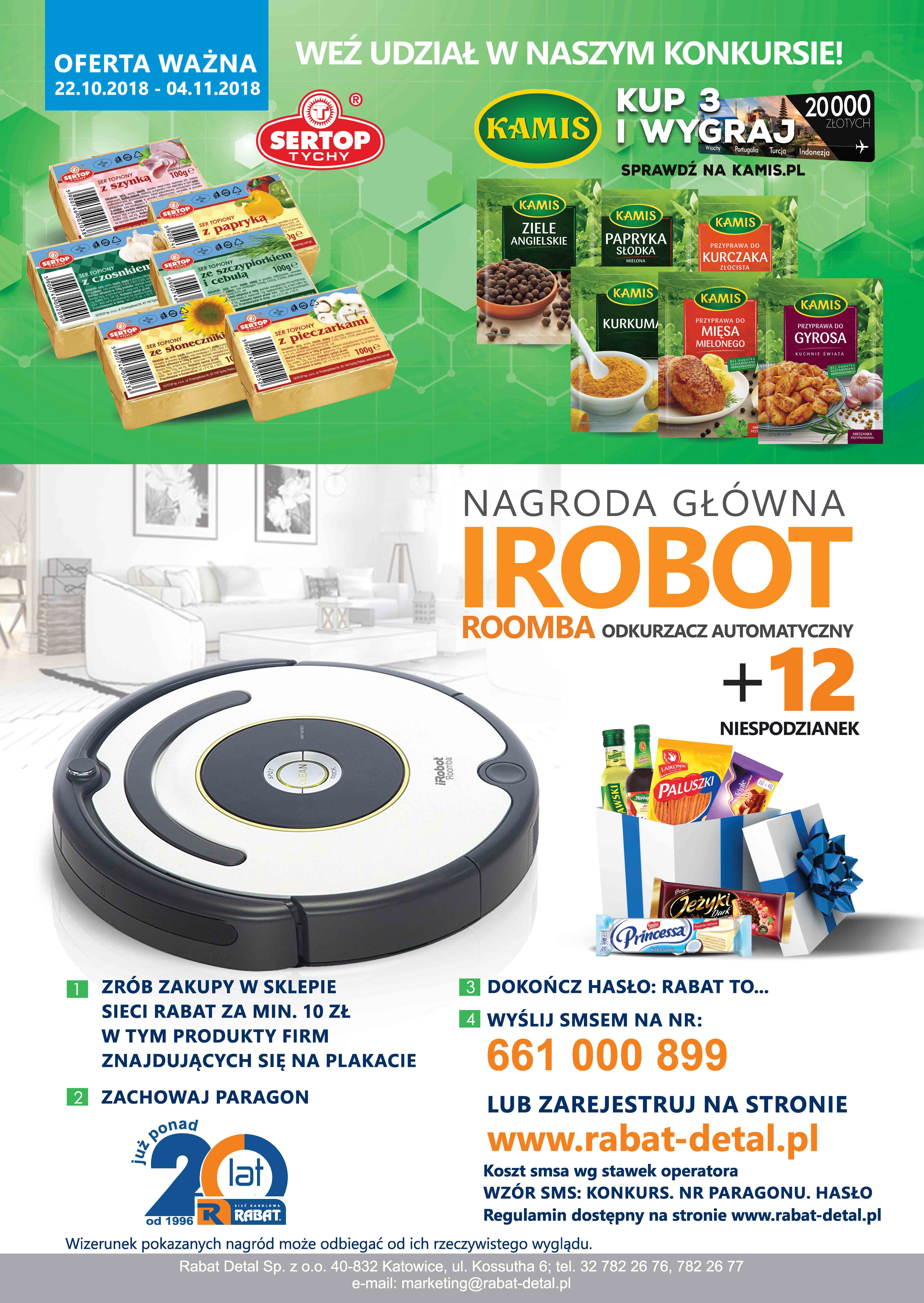 DO WYGRANIA IROBOT ROOMBA!